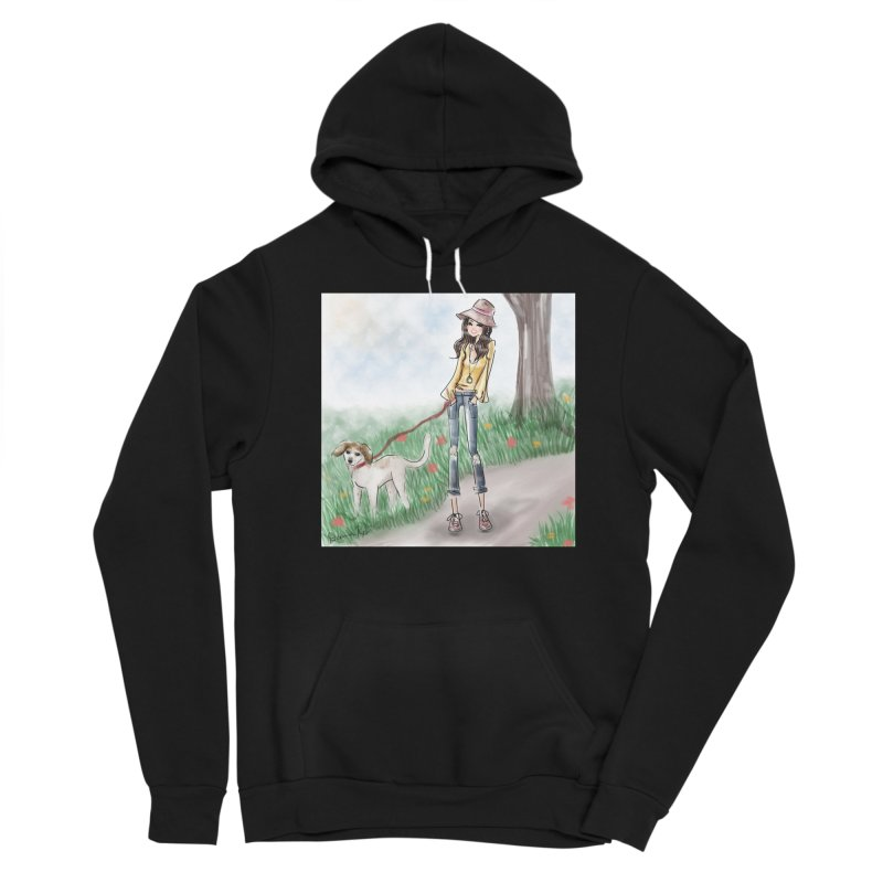 A walk in the Park Women's Sponge Fleece Pullover Hoody by Deanna Kei's Artist Shop