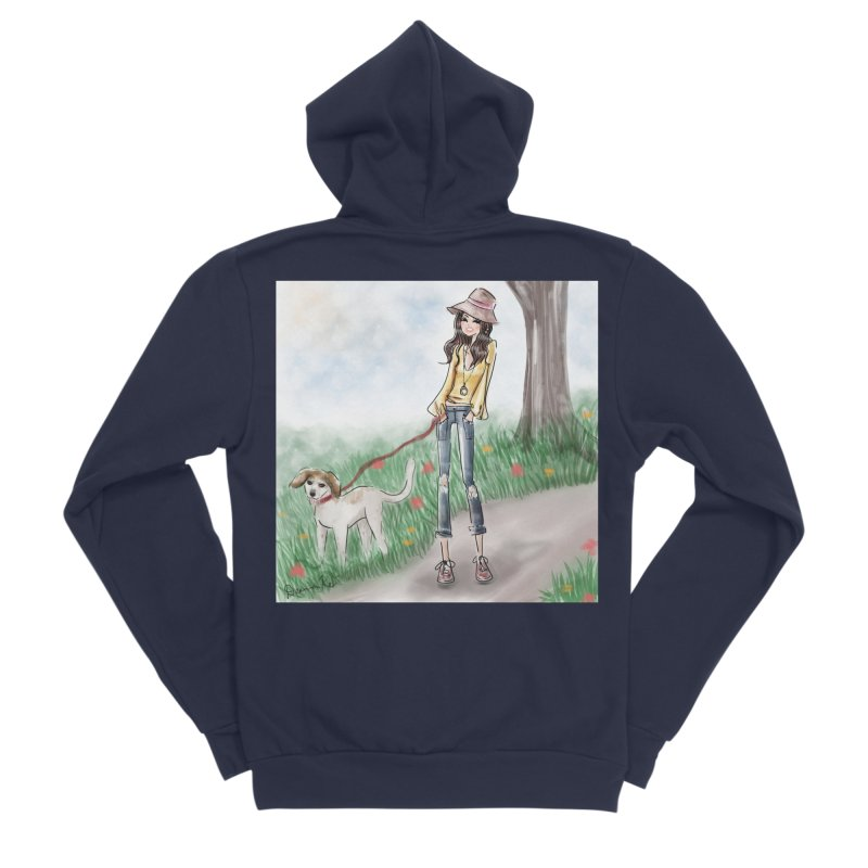 A walk in the Park Men's Sponge Fleece Zip-Up Hoody by Deanna Kei's Artist Shop