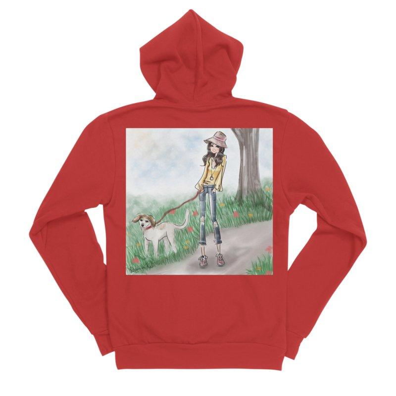 A walk in the Park Men's Zip-Up Hoody by Deanna Kei's Artist Shop