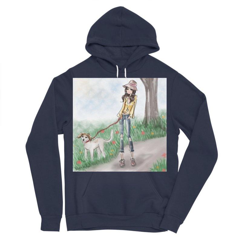 A walk in the Park Men's Sponge Fleece Pullover Hoody by deannakei's Artist Shop