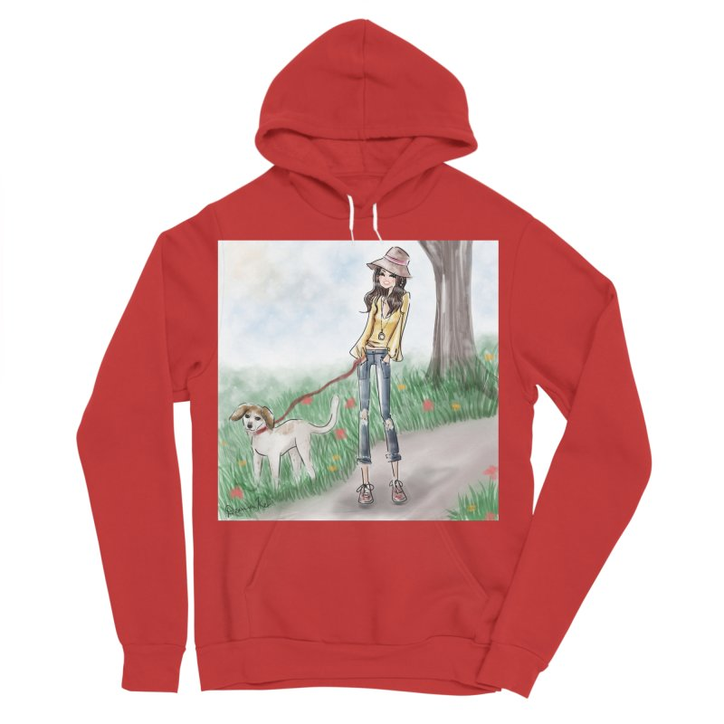 A walk in the Park Men's Pullover Hoody by Deanna Kei's Artist Shop