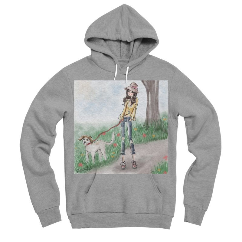 A walk in the Park Men's Sponge Fleece Pullover Hoody by Deanna Kei's Artist Shop