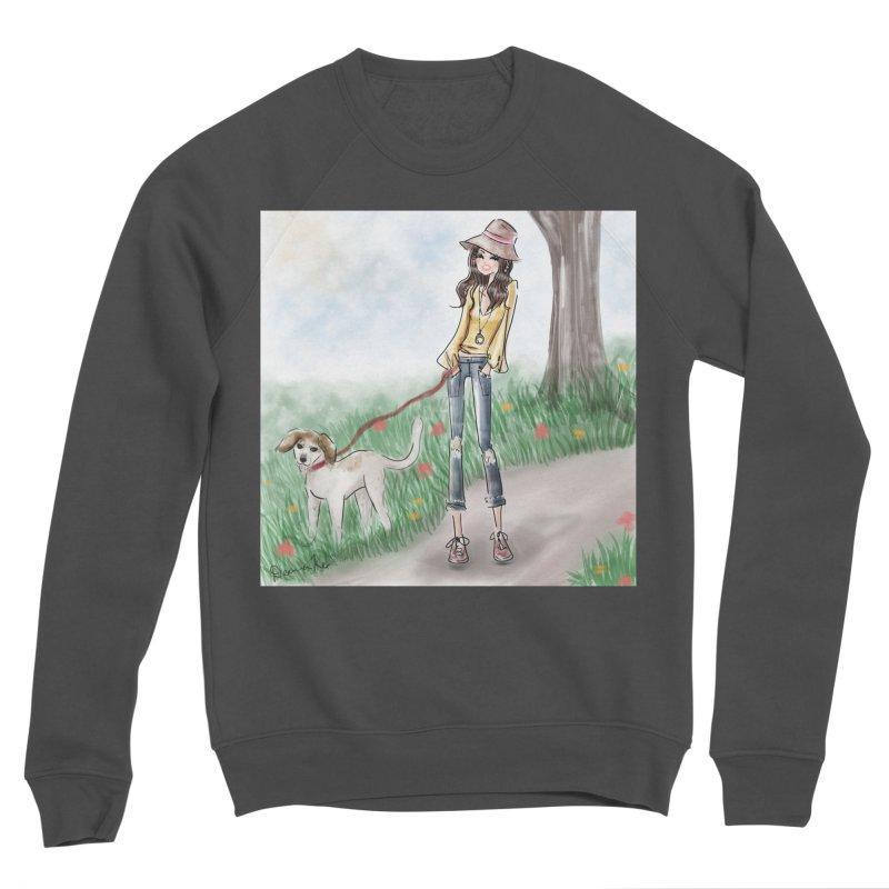 A walk in the Park Women's Sponge Fleece Sweatshirt by Deanna Kei's Artist Shop