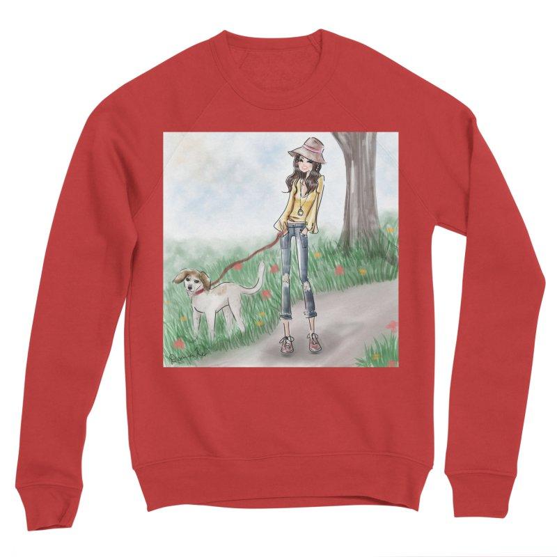 A walk in the Park Men's Sponge Fleece Sweatshirt by deannakei's Artist Shop