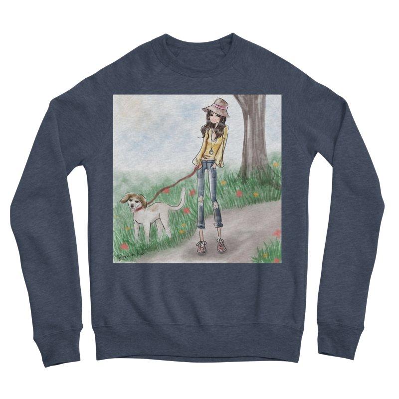 A walk in the Park Men's Sponge Fleece Sweatshirt by Deanna Kei's Artist Shop