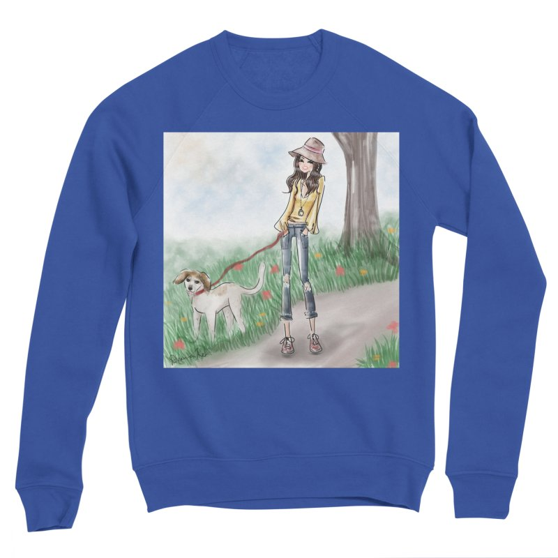 A walk in the Park Women's Sponge Fleece Sweatshirt by Deanna Kei's Artist Shop