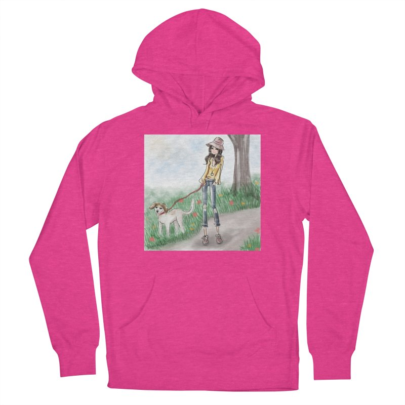 A walk in the Park Women's Pullover Hoody by Deanna Kei's Artist Shop
