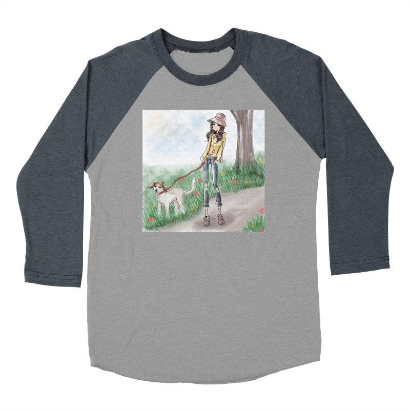 A walk in the Park Men's Baseball Triblend Longsleeve T-Shirt by Deanna Kei's Artist Shop