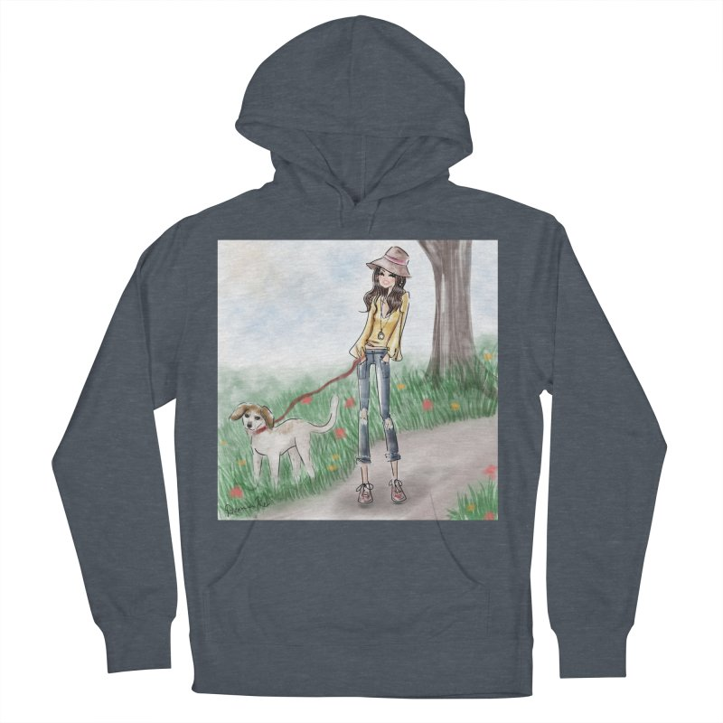 A walk in the Park Women's French Terry Pullover Hoody by deannakei's Artist Shop