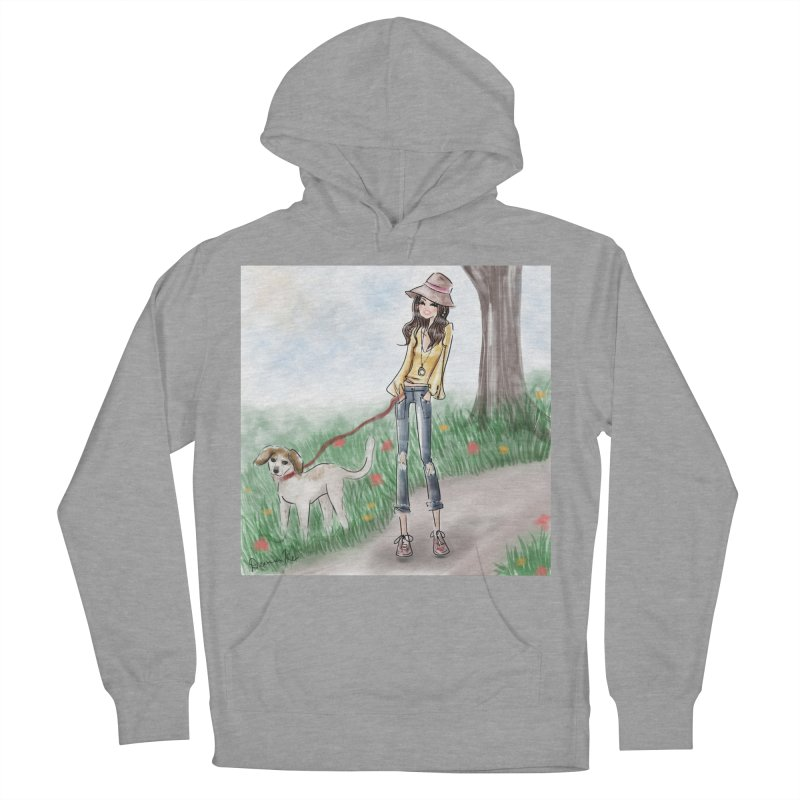A walk in the Park Women's French Terry Pullover Hoody by Deanna Kei's Artist Shop