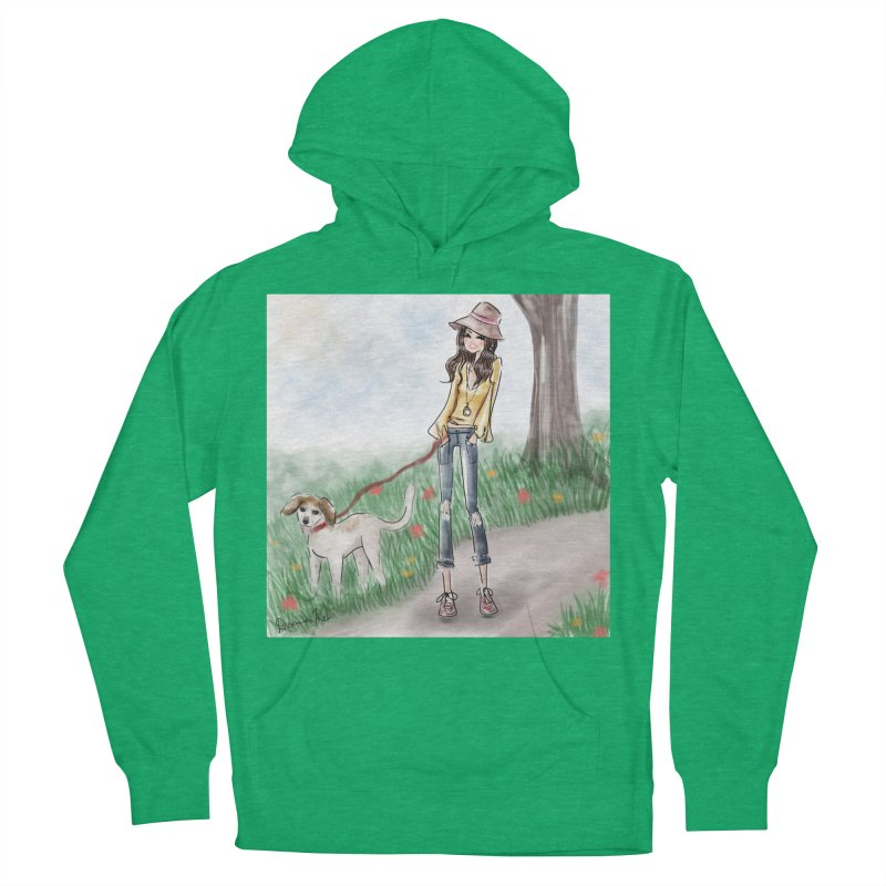 A walk in the Park Men's French Terry Pullover Hoody by deannakei's Artist Shop