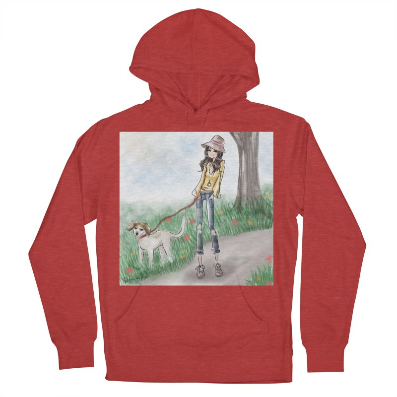 A walk in the Park Men's French Terry Pullover Hoody by Deanna Kei's Artist Shop