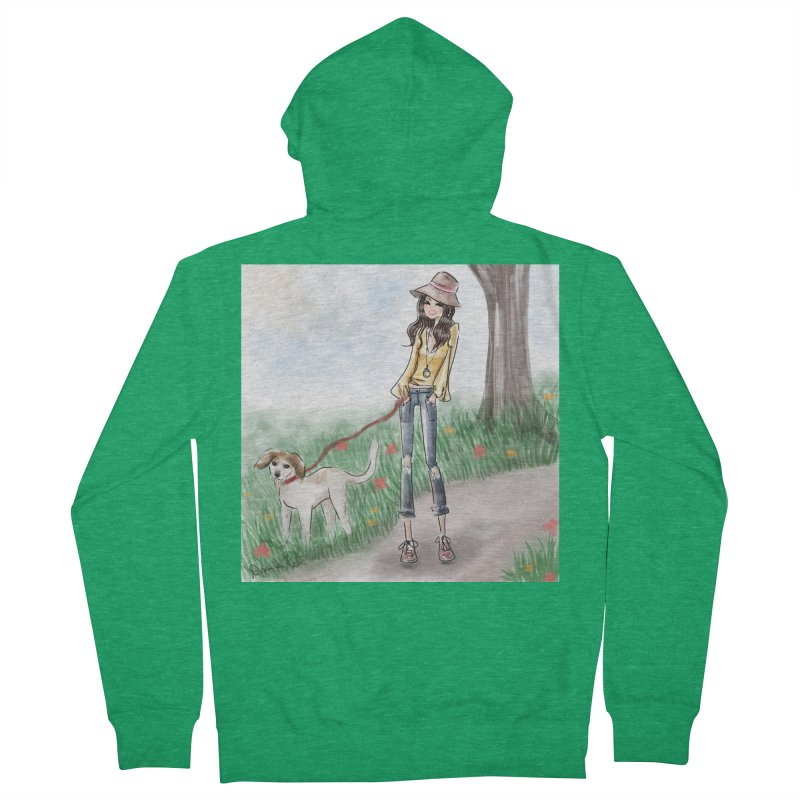 A walk in the Park Men's Zip-Up Hoody by Deanna Kei's Artist Shop