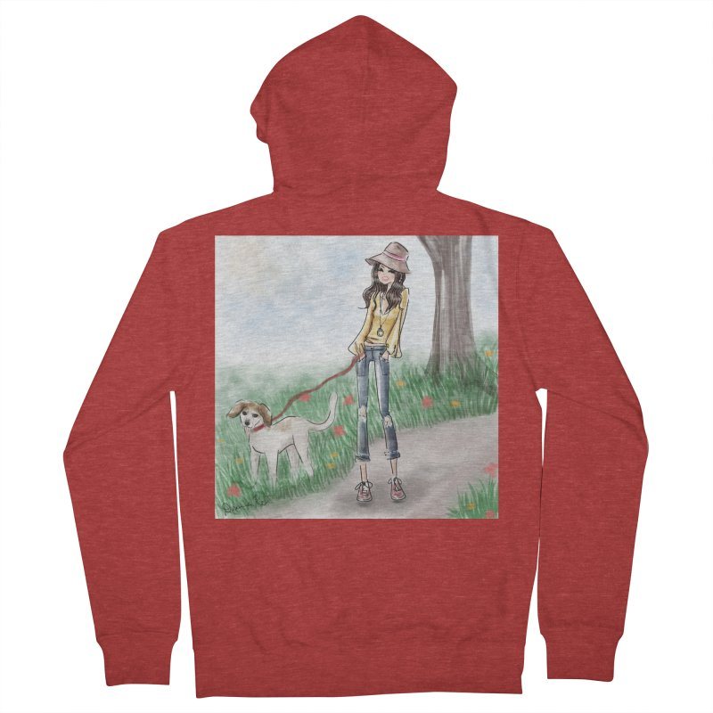 A walk in the Park Men's French Terry Zip-Up Hoody by Deanna Kei's Artist Shop