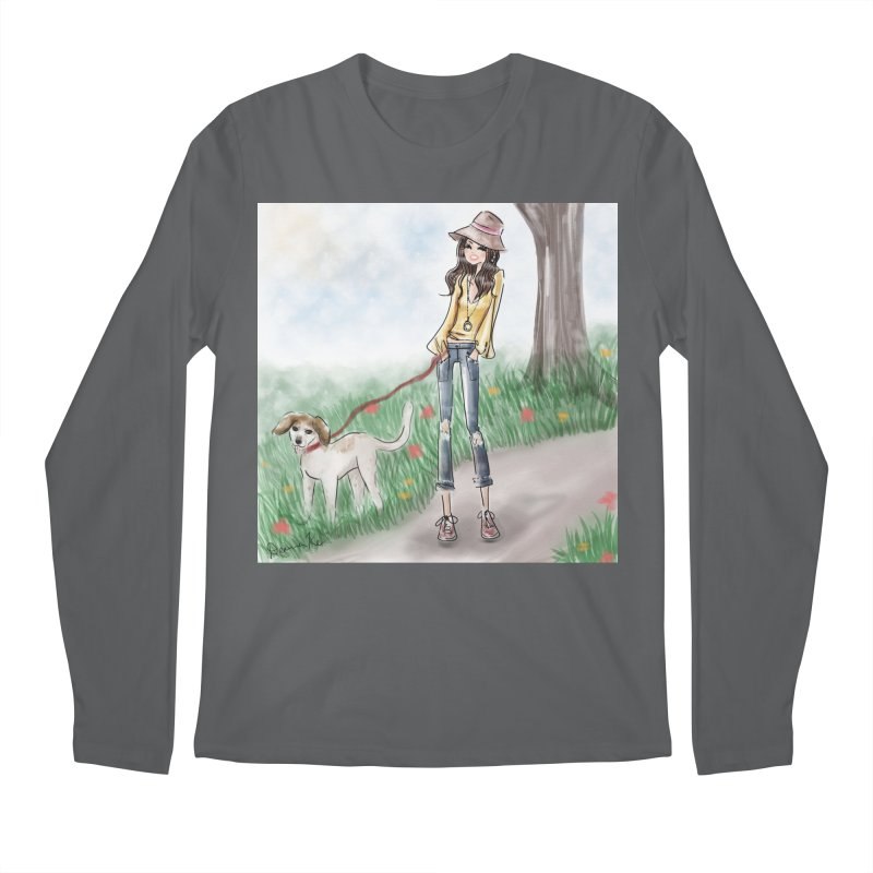 A walk in the Park Men's Regular Longsleeve T-Shirt by Deanna Kei's Artist Shop