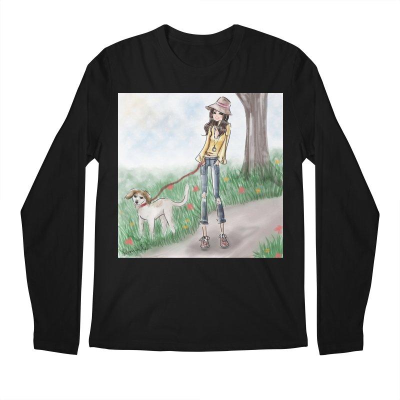 A walk in the Park Men's Regular Longsleeve T-Shirt by Deanna Kei's Artist Shop