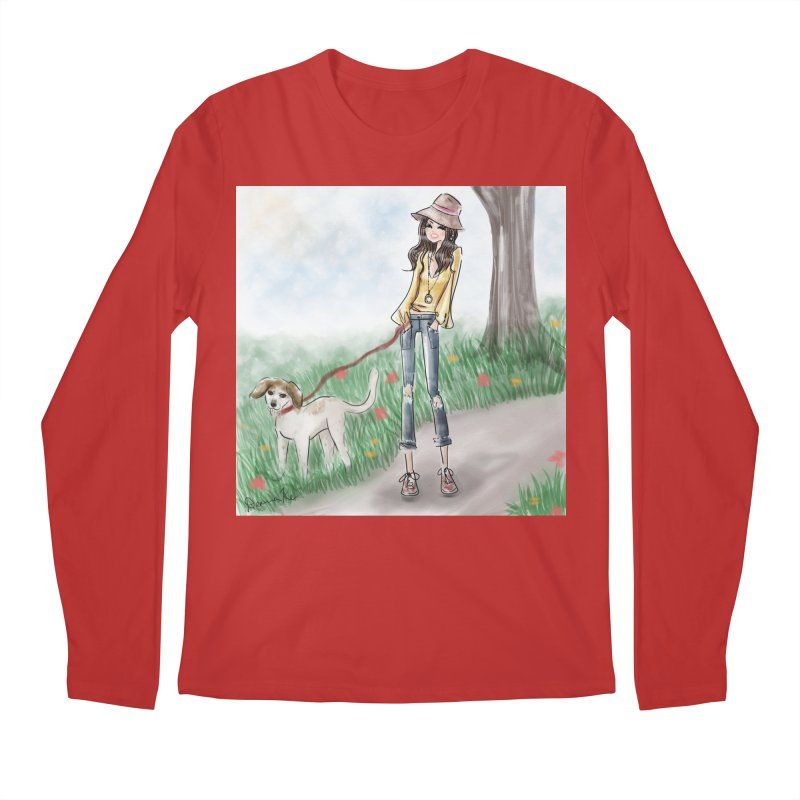 A walk in the Park Men's Regular Longsleeve T-Shirt by deannakei's Artist Shop