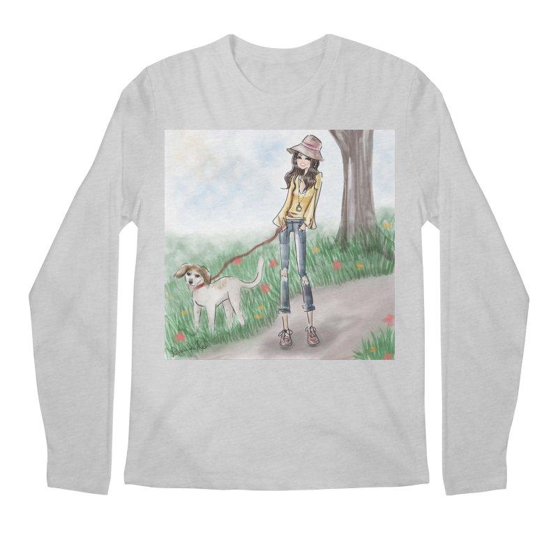 A walk in the Park Men's Regular Longsleeve T-Shirt by deannakei's Artist Shop