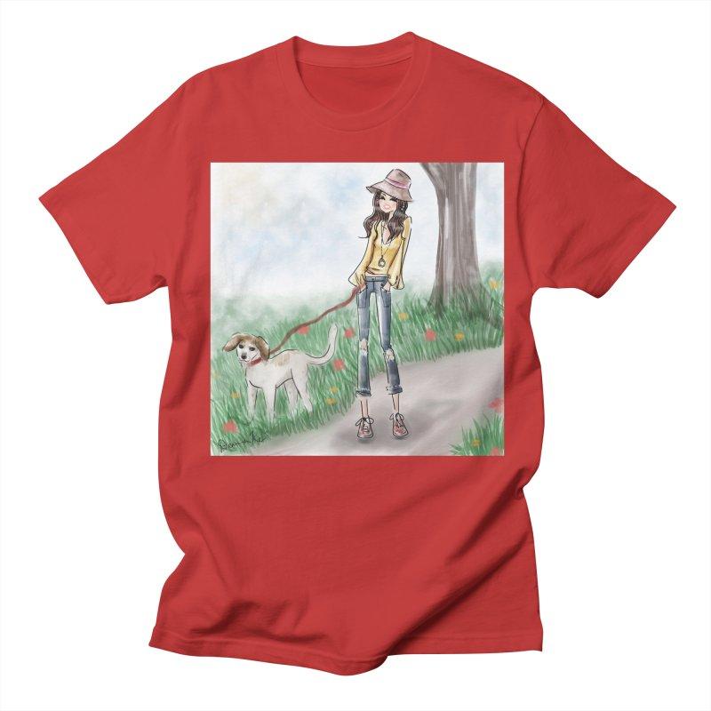 A walk in the Park Men's Regular T-Shirt by deannakei's Artist Shop