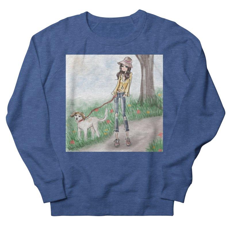 A walk in the Park Women's French Terry Sweatshirt by Deanna Kei's Artist Shop