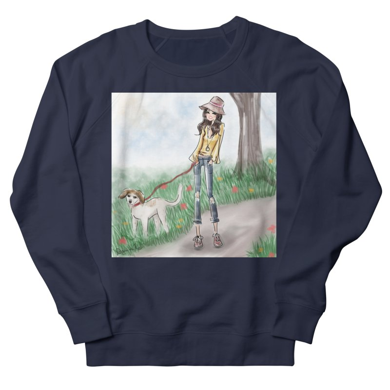 A walk in the Park Women's French Terry Sweatshirt by Deanna Kei's Artist Shop