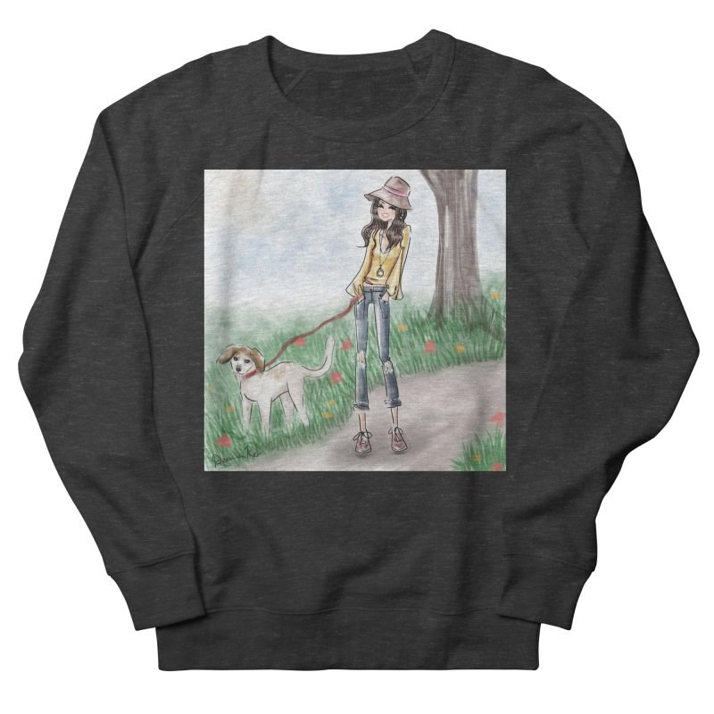 A walk in the Park Men's French Terry Sweatshirt by Deanna Kei's Artist Shop