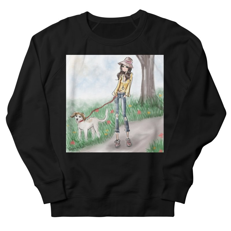 A walk in the Park Men's French Terry Sweatshirt by deannakei's Artist Shop