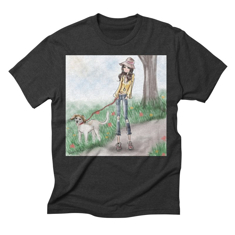 A walk in the Park Men's Triblend T-Shirt by deannakei's Artist Shop