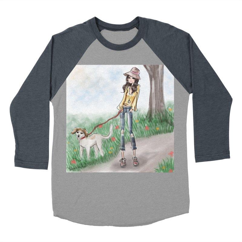 A walk in the Park Women's Baseball Triblend Longsleeve T-Shirt by deannakei's Artist Shop