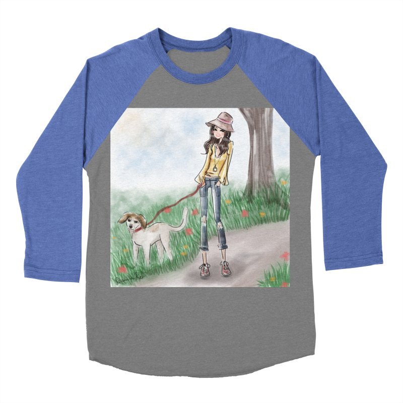 A walk in the Park Men's Baseball Triblend Longsleeve T-Shirt by deannakei's Artist Shop