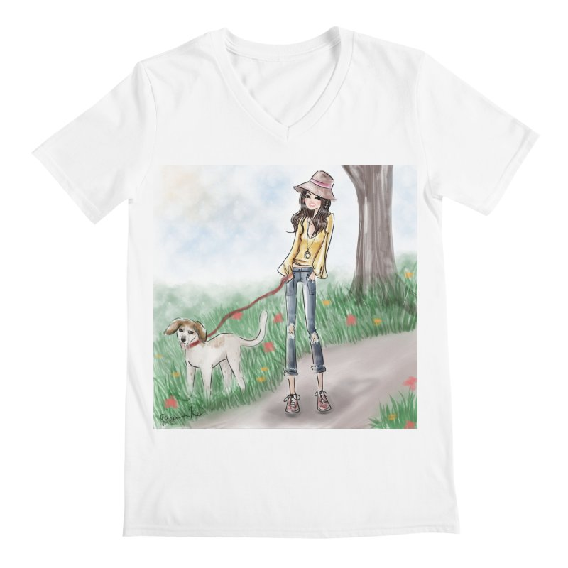 A walk in the Park Men's V-Neck by Deanna Kei's Artist Shop
