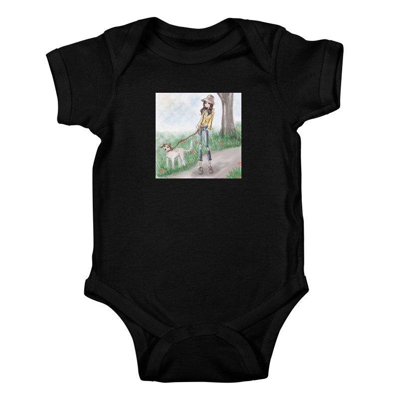 A walk in the Park Kids Baby Bodysuit by deannakei's Artist Shop