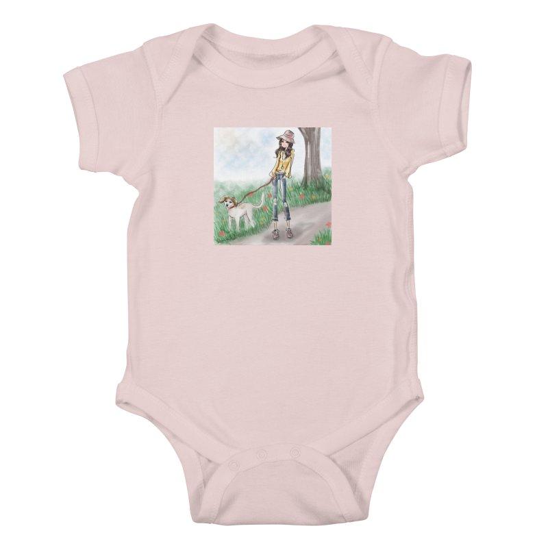 A walk in the Park Kids Baby Bodysuit by Deanna Kei's Artist Shop