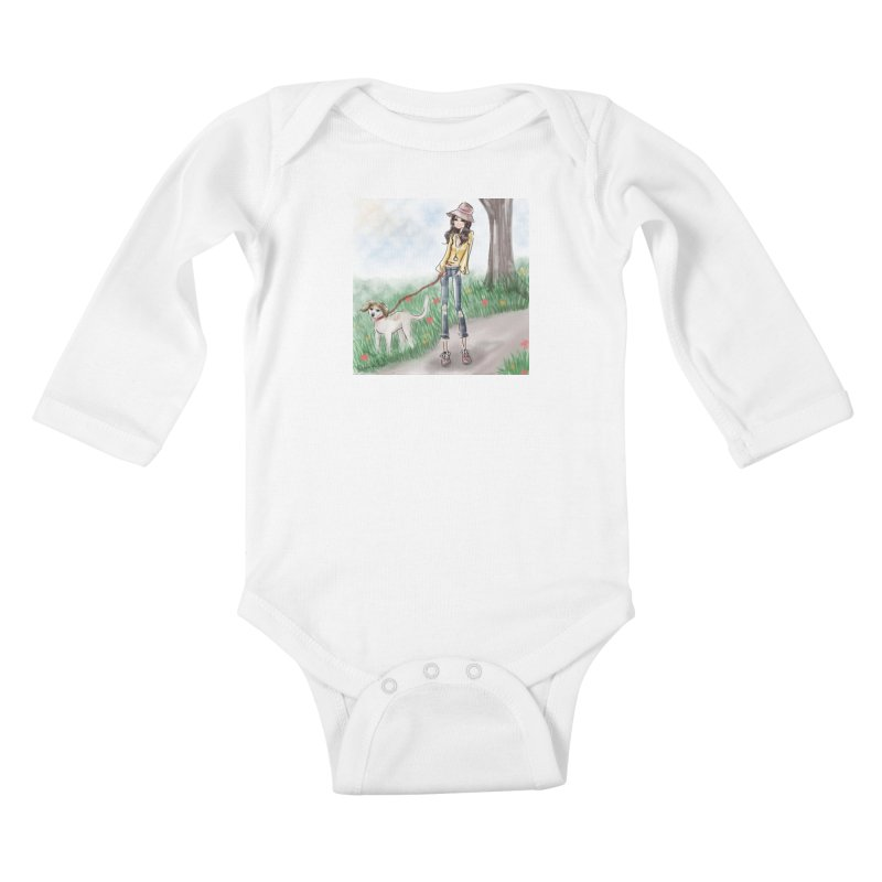 A walk in the Park Kids Baby Longsleeve Bodysuit by Deanna Kei's Artist Shop