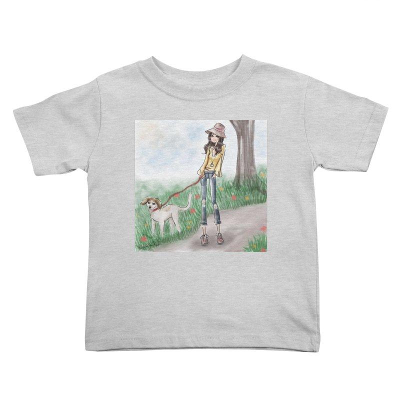 A walk in the Park Kids Toddler T-Shirt by Deanna Kei's Artist Shop