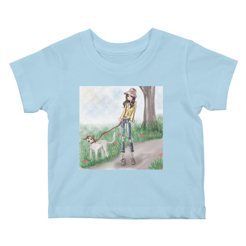 A walk in the Park Kids Baby T-Shirt by Deanna Kei's Artist Shop