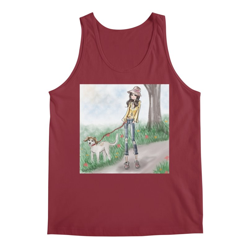 A walk in the Park Men's Tank by Deanna Kei's Artist Shop