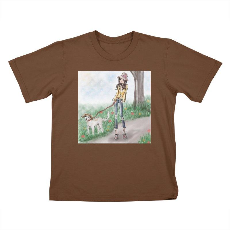 A walk in the Park Kids T-Shirt by deannakei's Artist Shop