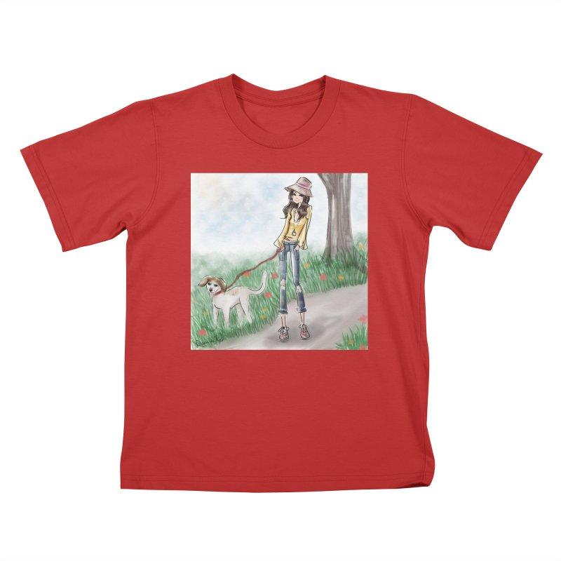 A walk in the Park Kids T-Shirt by Deanna Kei's Artist Shop