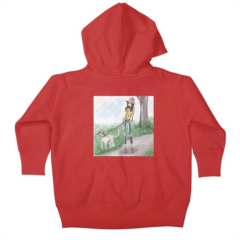 A walk in the Park Kids Baby Zip-Up Hoody by Deanna Kei's Artist Shop