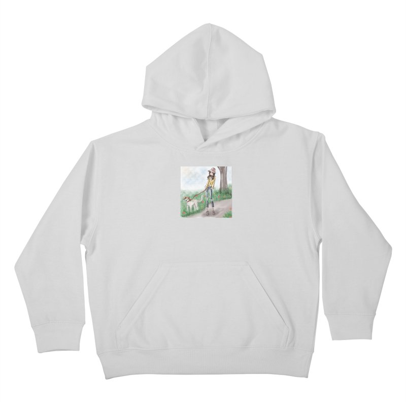 A walk in the Park Kids Pullover Hoody by Deanna Kei's Artist Shop