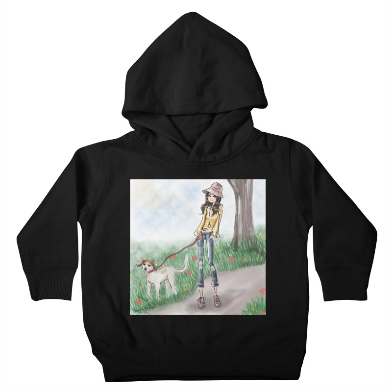 A walk in the Park Kids Toddler Pullover Hoody by deannakei's Artist Shop
