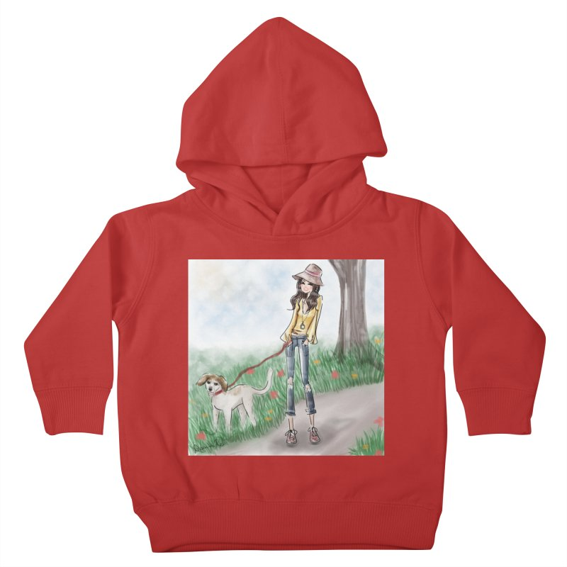 A walk in the Park Kids Toddler Pullover Hoody by Deanna Kei's Artist Shop