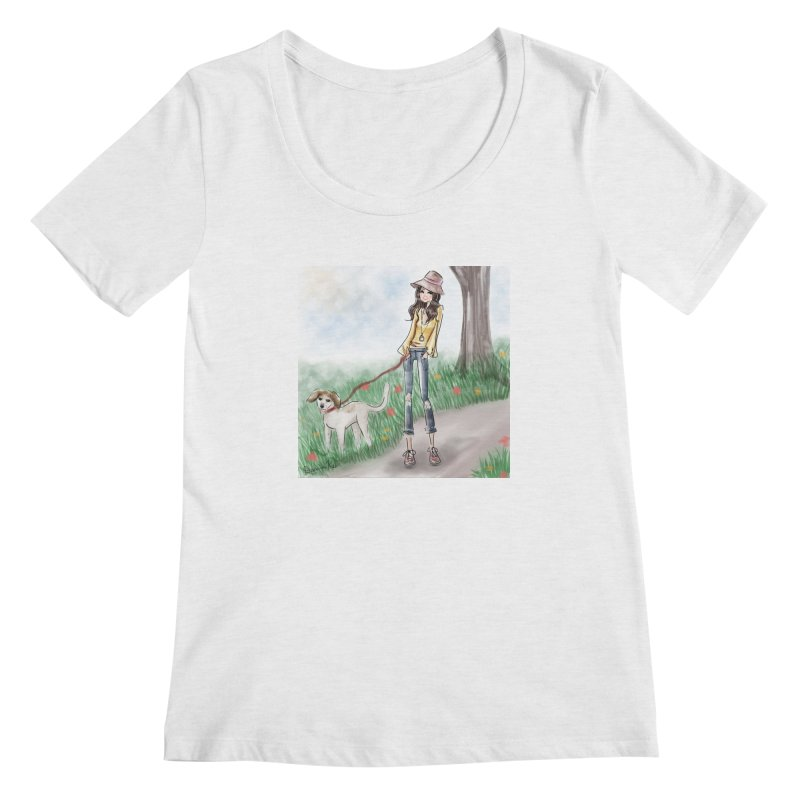 A walk in the Park Women's Scoop Neck by Deanna Kei's Artist Shop