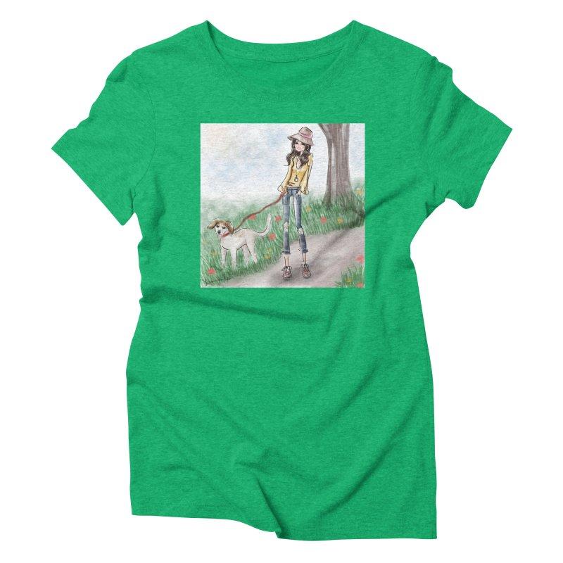 A walk in the Park Women's Triblend T-Shirt by deannakei's Artist Shop