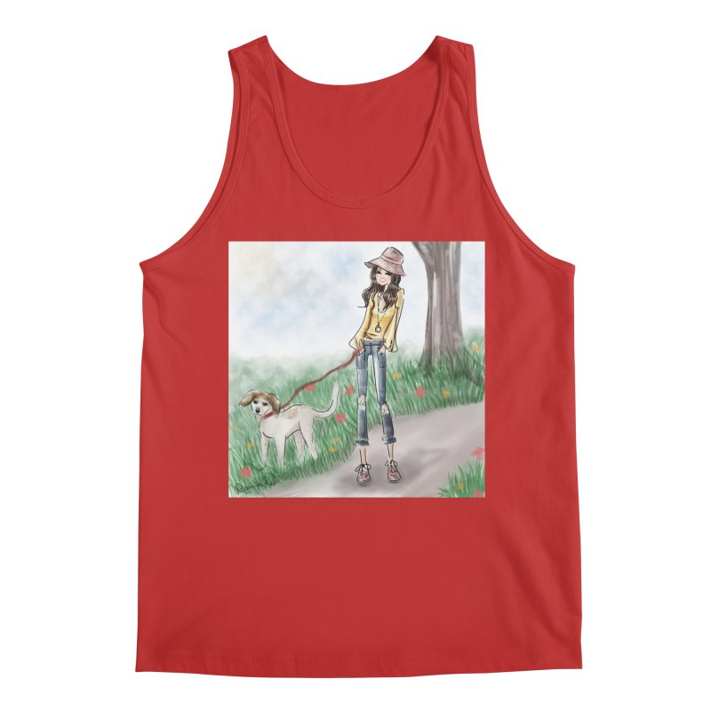 A walk in the Park Men's Regular Tank by deannakei's Artist Shop