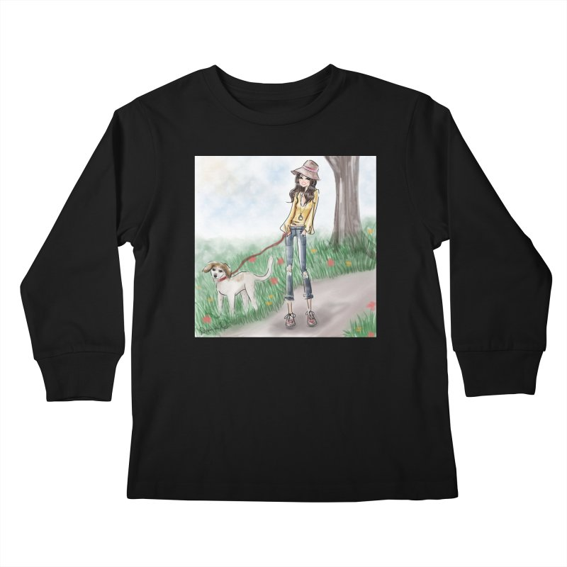 A walk in the Park Kids Longsleeve T-Shirt by Deanna Kei's Artist Shop