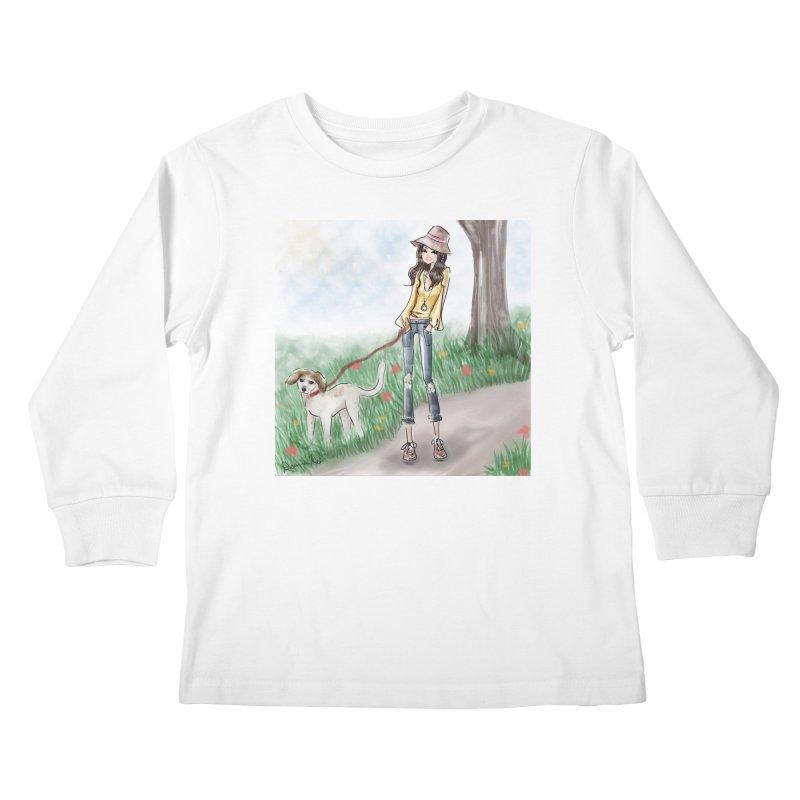 A walk in the Park Kids Longsleeve T-Shirt by deannakei's Artist Shop