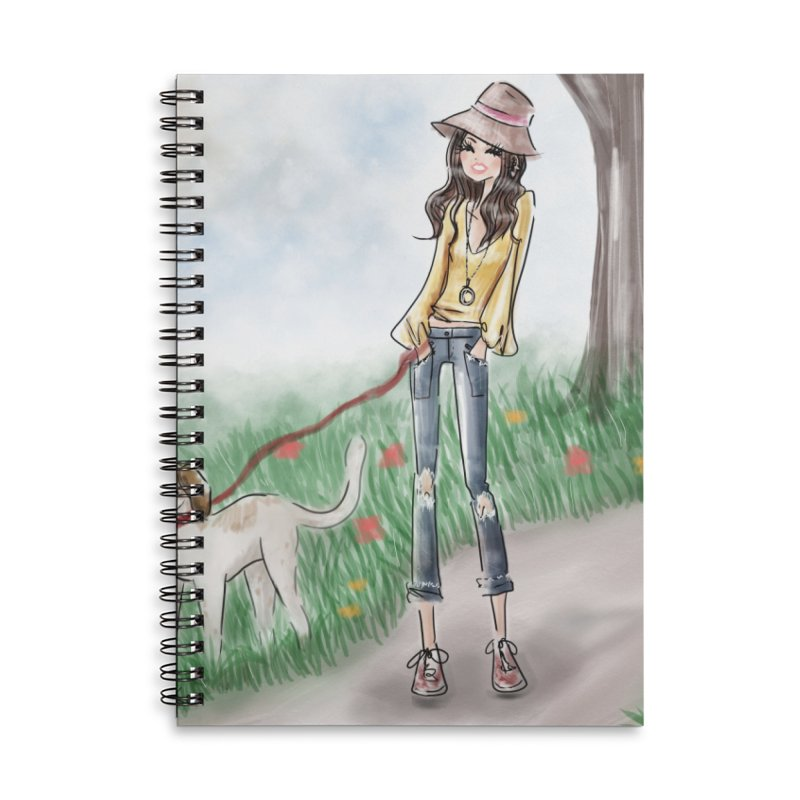 A walk in the Park Accessories Lined Spiral Notebook by Deanna Kei's Artist Shop