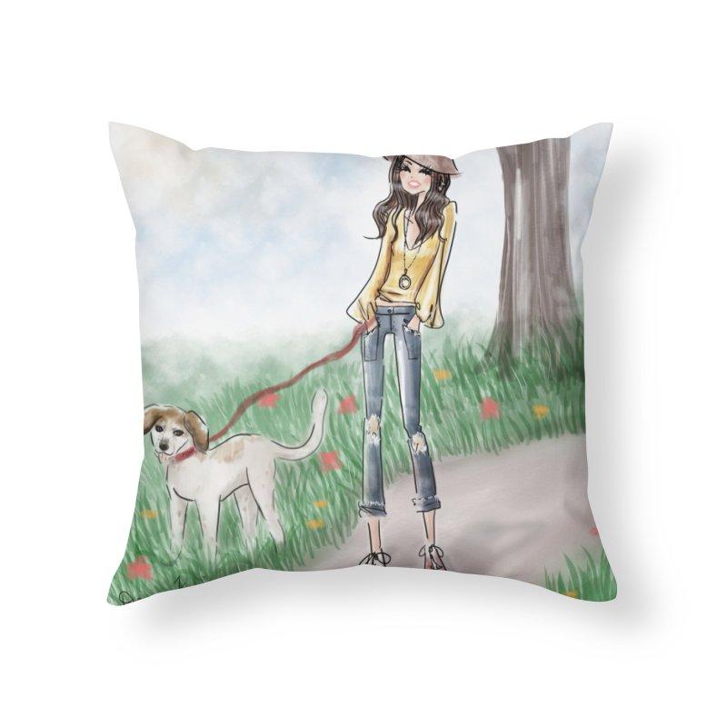 A walk in the Park Home Throw Pillow by deannakei's Artist Shop